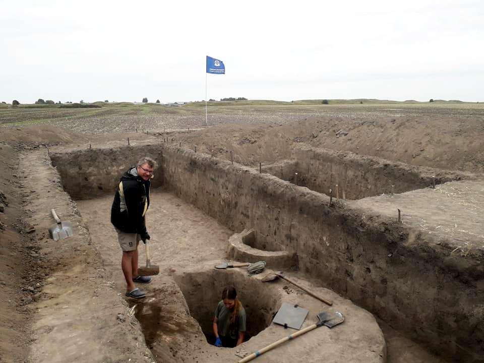 Розкопки на Західному укріпленні Більського городища.